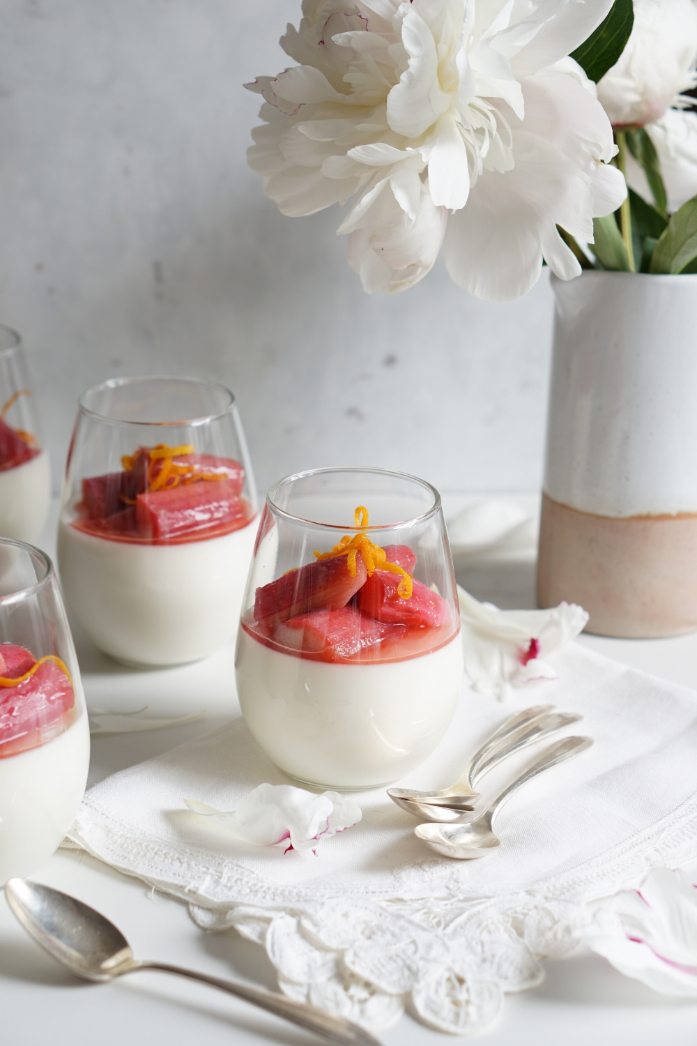 orange blossom panna cotta - HFE