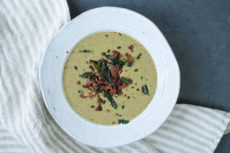 Creamy Mushroom Soup with Bacon and Fried Sage | Autoimmune-Paleo.com